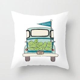 Watermelon Truck Throw Pillow