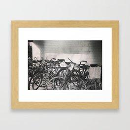 Vintage Bicycles Framed Art Print