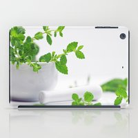 melissa smith iPad Cases featuring Melissa officinalis by Tanja Riedel