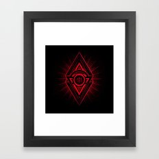 The Eye of Providence is watching you! (Diabolic red Freemason / Illuminati symbolic) Framed Art Print