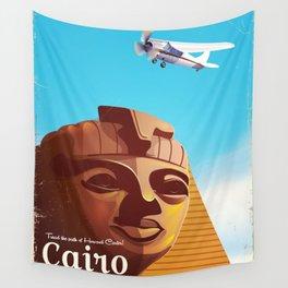 Cairo flight vintage travel poster Wall Tapestry