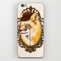 mr fox iPhone & iPod Skins featuring Mr Fox by mattdunne