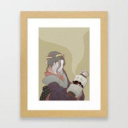The Faceless Ghost_Light Framed Art Print