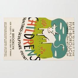 Vintage poster - Children's Paintings Rug