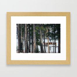 Hidden Cabin  Framed Art Print