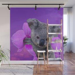 Koala and Orchid Wall Mural