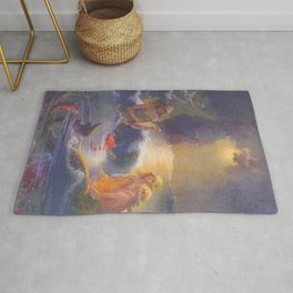 Mermaids and a Ship by Gertrude Alice Kay Rug