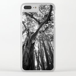 Black and White Banyan Clear iPhone Case