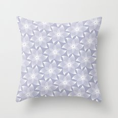 Pale flower pattern Throw Pillow