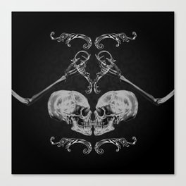 """Skull in Love"" Canvas Print"