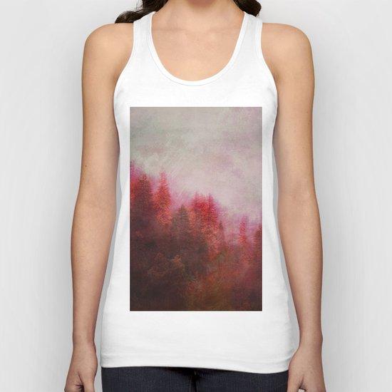 Dreamy Autumn Forest Unisex Tank Top