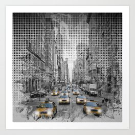 Graphic Art NEW YORK CITY 5th Avenue Traffic Art Print