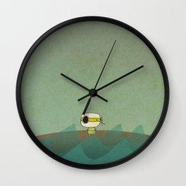 Little Green Pirate Wall Clock