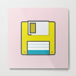 Floppy Metal Print