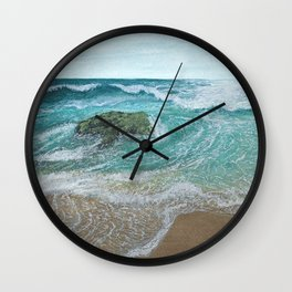 Seascape 'Waves at Play 1' Wall Clock