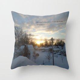 Light is Good (unedited) Throw Pillow
