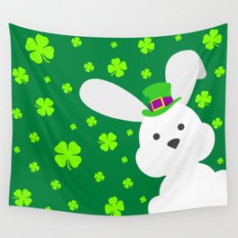 ST. PATRICK'S DAY BUNNY (abstract animals nature flowers happy irish, patricks) Wall Tapestry