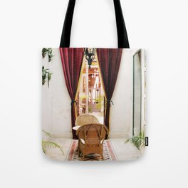 Colonial Style Tea Room in Merida, Mexico Tote Bag