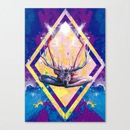 Autre visage du Yoga au Cerf Canvas Print