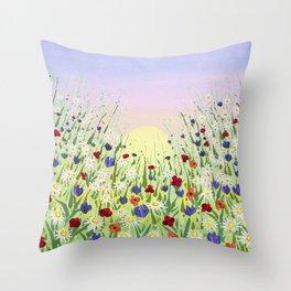 Spring M Throw Pillow