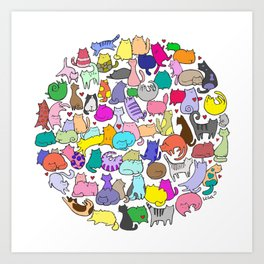 Cat Ball Art Print