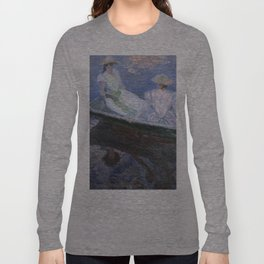 1887-Claude Monet-On the Boat-133 x 145 Long Sleeve T-shirt