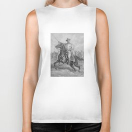 Colonel Theodore Roosevelt On Horseback Biker Tank