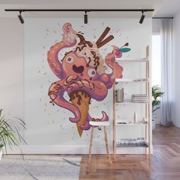 Squidscream Wall Mural