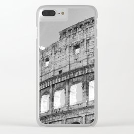 Black and White Vaticano Clear iPhone Case