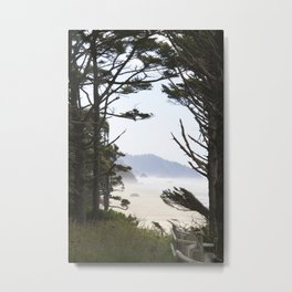 Through the pine Metal Print