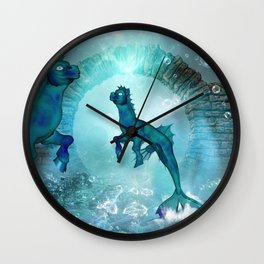 Fantasy seahorse Wall Clock