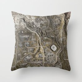 COD Warzone Map Season 4 Throw Pillow