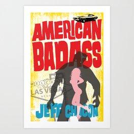 American Badass Cover Art Art Print