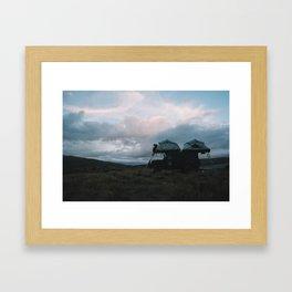 Mountain Camp, NZ Framed Art Print
