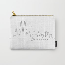 Pen line silhouette Barcelona Carry-All Pouch