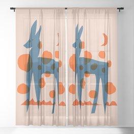Abstraction_DEER_DOTS Sheer Curtain