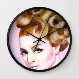 Sixties girl with bouffant Wall Clock