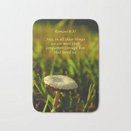 Romans 8:37 Bath Mat