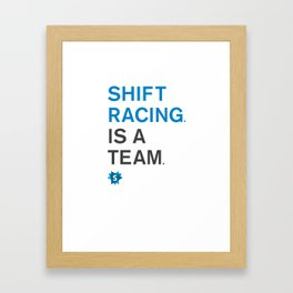 is a team Framed Art Print
