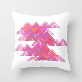 Colorful Line Work Throw Pillow