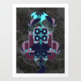 Naturetecture - where technology co-incides with nature Art Print
