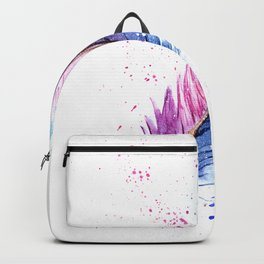 Feather Watercolor Painting Backpack