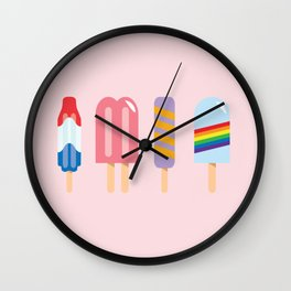 Popsicle - Four Pack Pink #267 Wall Clock