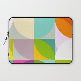 mid century geometry vibrant colors Laptop Sleeve