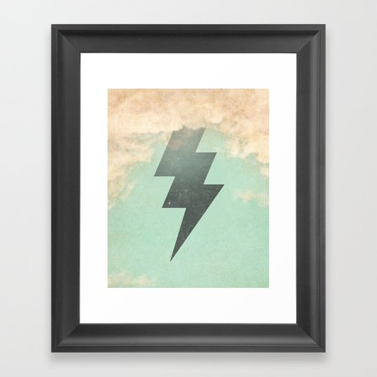 Bolt from the Blue Framed Art Print
