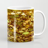 solid color Mugs featuring :: Solid Gold :: by :: GaleStorm Artworks ::