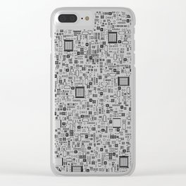 All Tech Line / Highly detailed computer circuit board pattern Clear iPhone Case