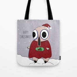 // Mr. WobbleBobble says Happy Christmas! // Tote Bag