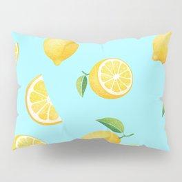 Lemons on Blue Pillow Sham