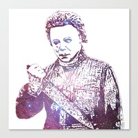 michael myers Canvas Prints featuring Galaxy Tony Moran Michael Myers by Cookie Cutter Cat Lady
